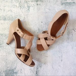 CHIE MIHARA • Woven Leather Heeled Sandals